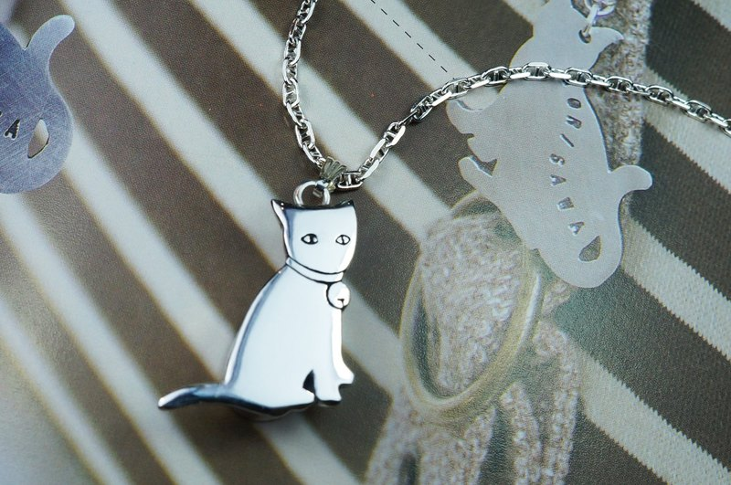 AMCA AN Ke ~ Silver Workshop for pet ashes cat necklace _