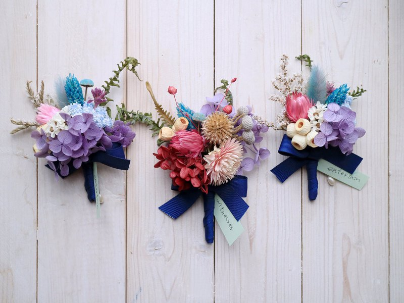 PJ Small Garden * | Forest Department Corsage Groomsman Groomsmen Wedding Couple Dry Flower Immortal Flower | Custom