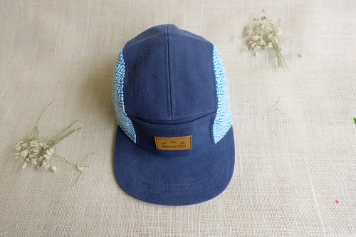 Tipple Sun Cap (Royal blue/Traditional fabric OceanBlue)