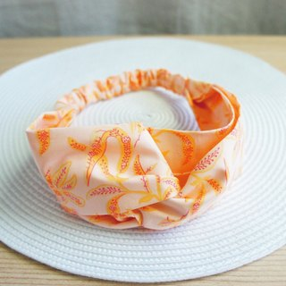 Lovely bloom flower butterfly elastic hair band, hair ring, pink orange