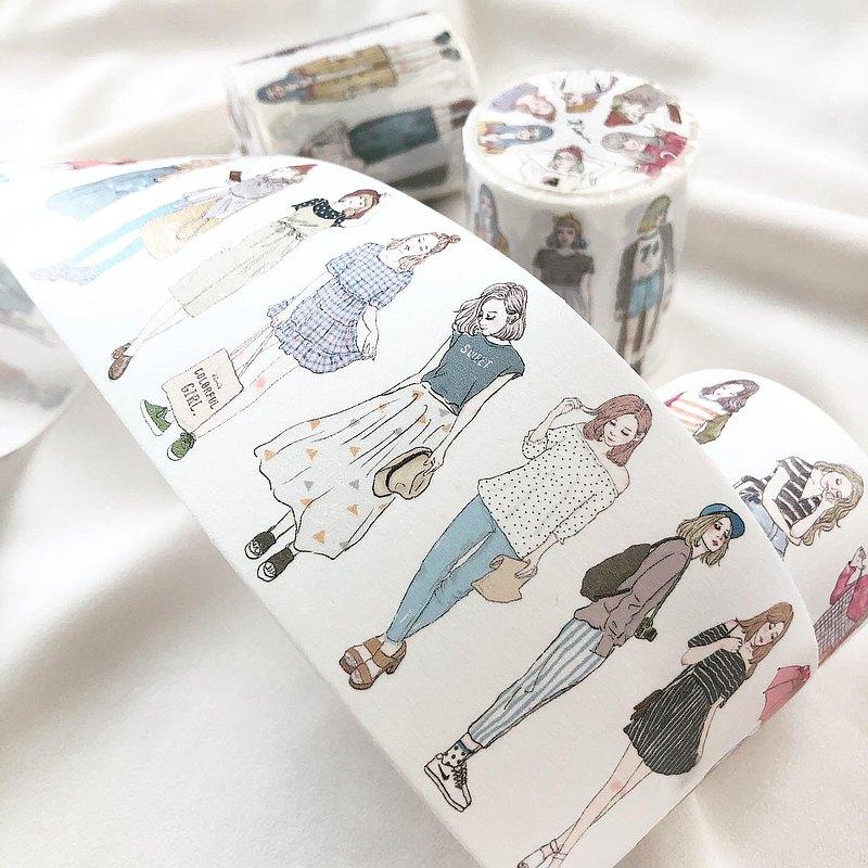 46個女孩  / 6cm紙膠帶(帶離型紙)