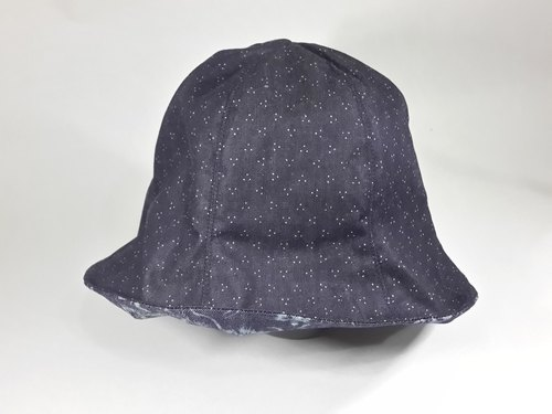 Two-handed fisherman's hat Handmade hat Visor Denim Six caps