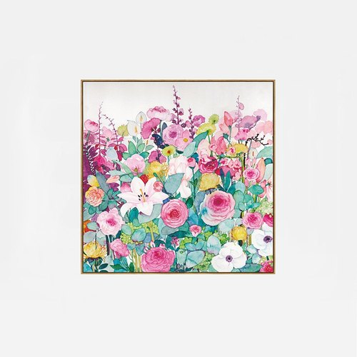 Nordic dissent fresh flowers living room bedroom children's room decorative painting murals flowers