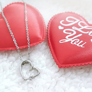Belle blossoming love heart-shaped white steel small 墬 chain is not afraid of water does not change color