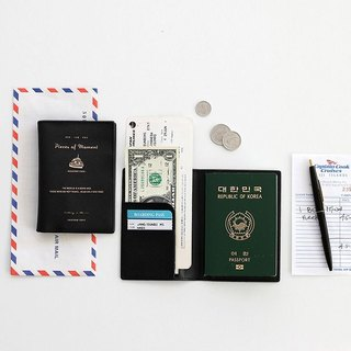 Iconic-Flight Diary Passport Case - Cool Black, ICO86833