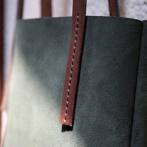 【Nong】 handmade leather goods / first layer of vegetable tanned leather / suede leather / art retro / shoulder bag / handbag