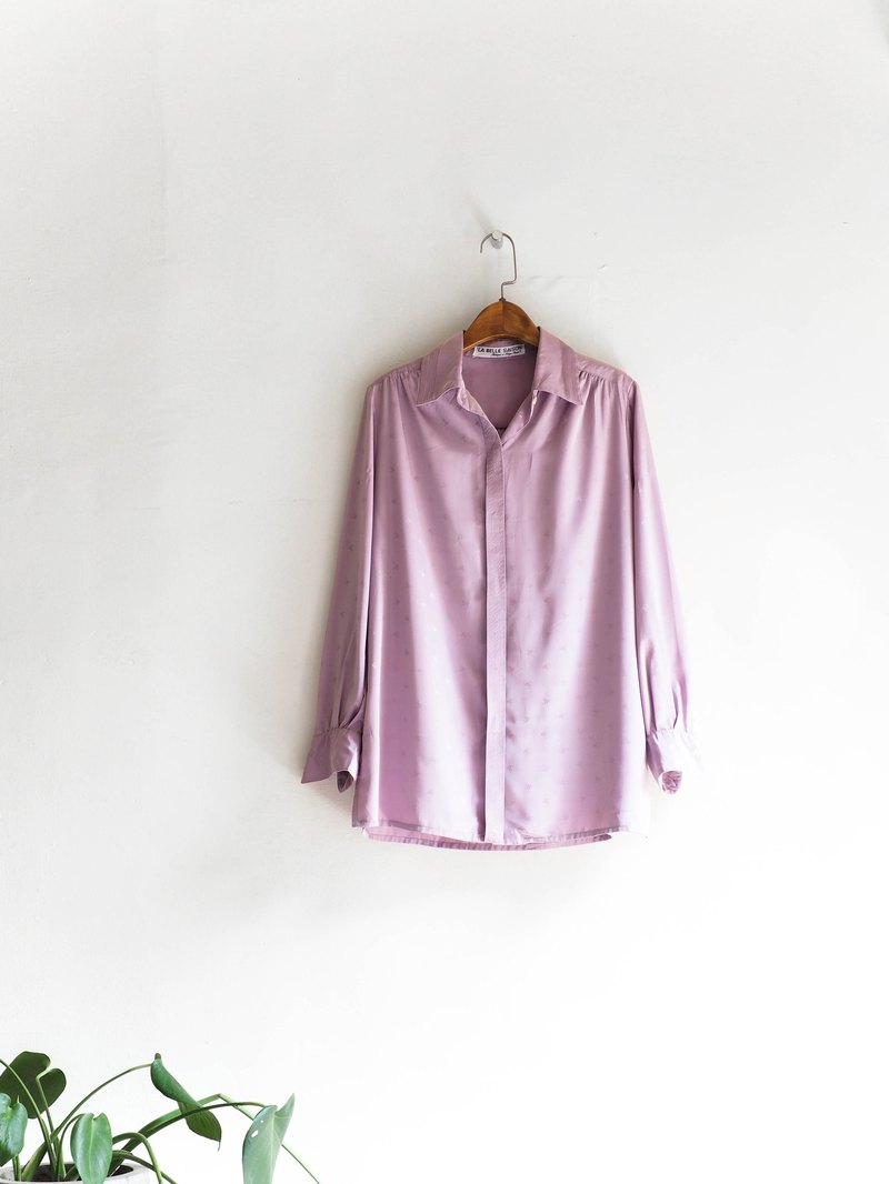 Hokkaido Violet Flower Breeze Flower Antique Silk Shirt Tops shirt oversized vintage