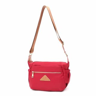 Simple oblique backpack / shoulder bag / cell phone bag / shoulder bag / black / red / pink / apricot