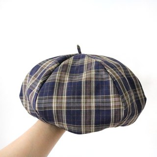 Wild England plaid handmade double sided hat hat painter hat