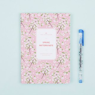 Spring Pattern Note Spring flower notebook - pink cherry