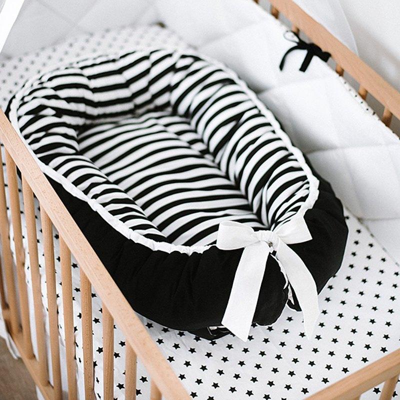 單色黑色嬰兒窩 - 嬰兒睡床 - 新生兒依偎窩