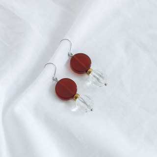 Fruit - 925 silver ear needle / changeable clip