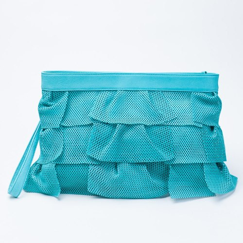 Uroko Handbag Shoulder Turquoise ★ Pig Leather Bag with Shoulder Tape