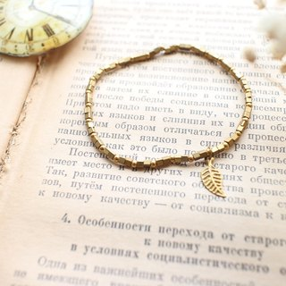 The golden leaf-brass bracelet
