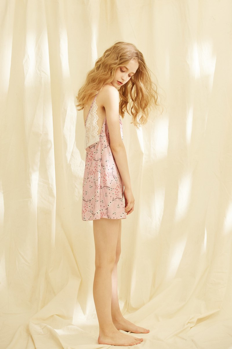 Cherry Blossom Printed Night Dress