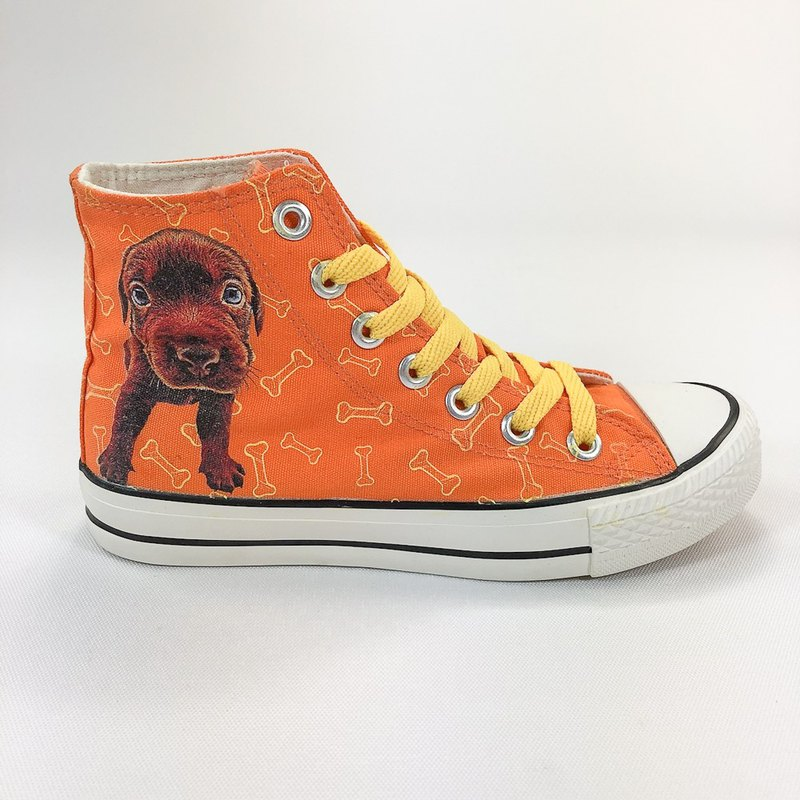 The Dog Authorized Dog - Canvas Shoes (Orange Shoes Yellow / Women Limited Edition) -AJ03