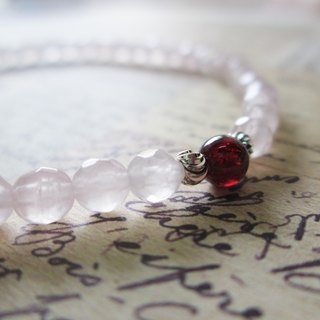 """Conventions"" series - Garnet Rose Quartz Bracelet (Limited product)"