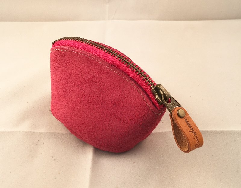 Coin Purse Coin Case Tochigi Leather Suede Accessory Pouch Accessory Fastener