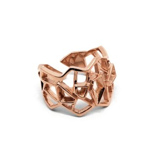 WIREFRAME Ring / Rose Gold ( silver jewelry)