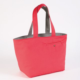 Tailor Pocket Tote Bag - Coral Red