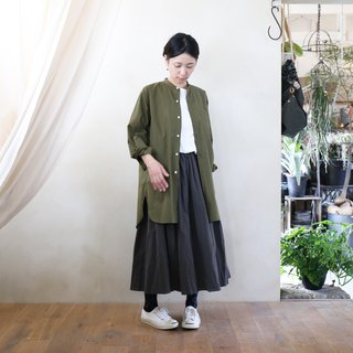 Parachute Cross Band Color Long Shirt GR [Unisex]