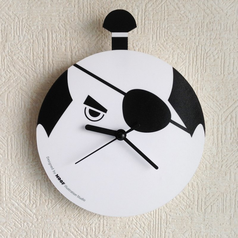 Muff Wall clock illustration Wall clock Humorous simple design