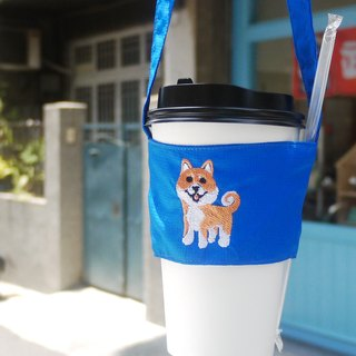 Shiba Inu Bag Walking Embroidery Beverage Bag