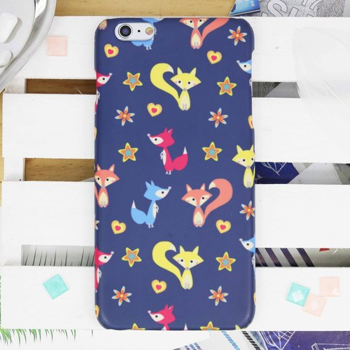 Cute Fox All over pattern Matt finishes rigid hard Phone Case Cover  for iPhone X 5 5S SE 6 6S 7 Plus 8 Samsung Galaxy S6 S7 edge Note 5 8  Zenfone HTGNP52