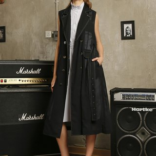 Long coat in a vest