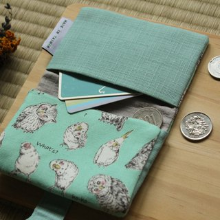 [鸮枭歪歪头-owl] card holder / business card holder / card holder / coin purse