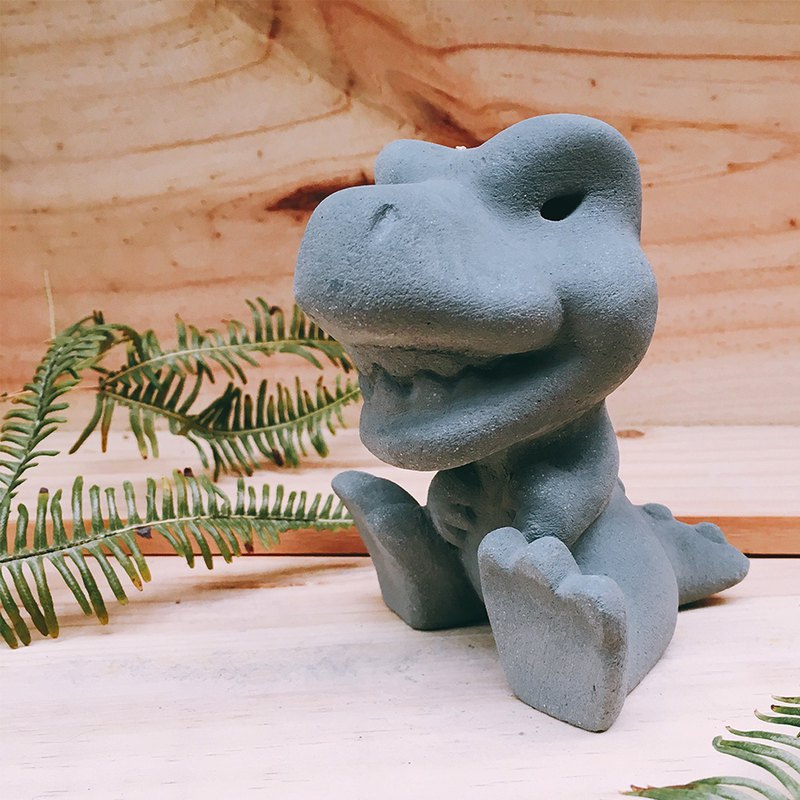Laughing T-rex Baby / Diffuser Stone / Paperweight