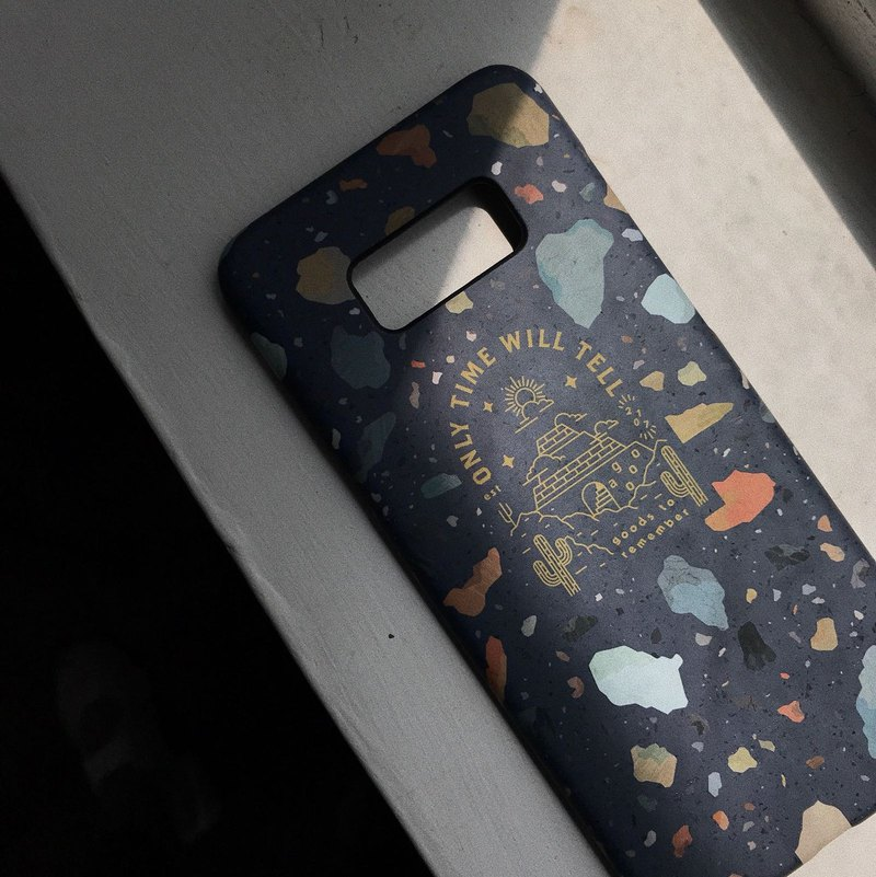 Cosmic Deep Blue Color Stone - Mobile Shell Samsung S8 / S8+