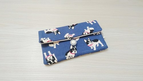 Folding bag passport sets of health cotton bags pouch bag storage bag AS-60 dog blue models