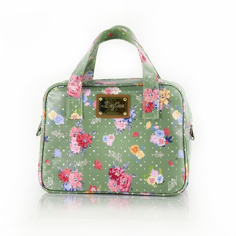 England Rose Waterproof Zipper Small Square Bag - Green