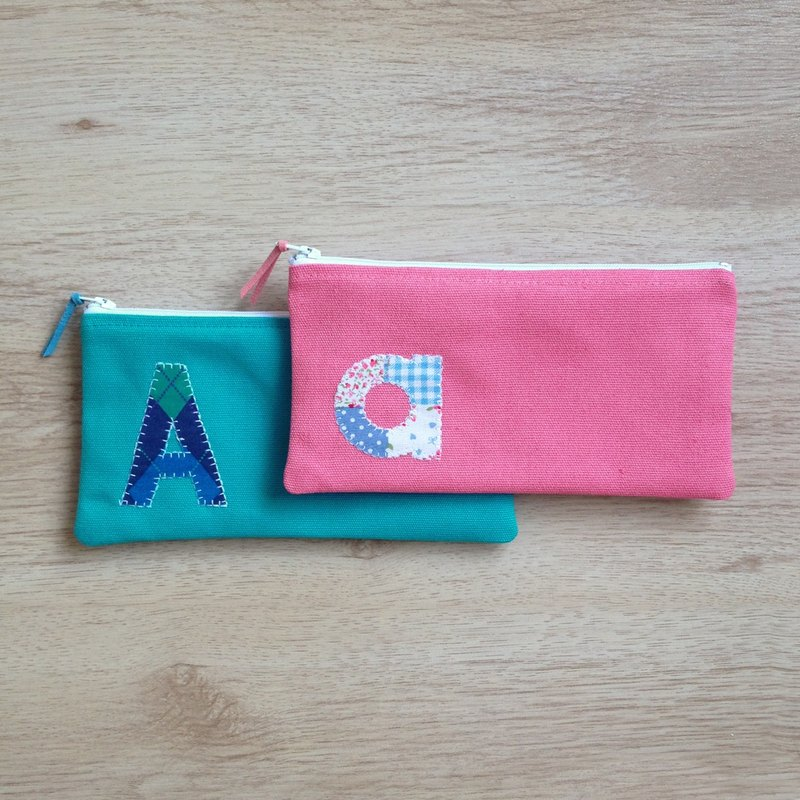 Back to school TWOgether! AlphaBAG ZipPEN|customize letter · hand craft · canvas pencil ba