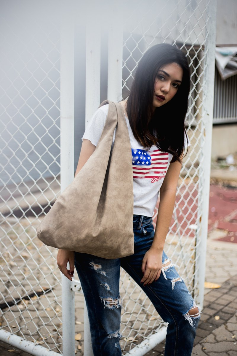 rusty brown - signature tote bag