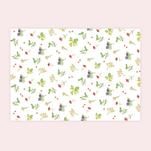 Flowers wrapping paper (A3 size) into 10 group