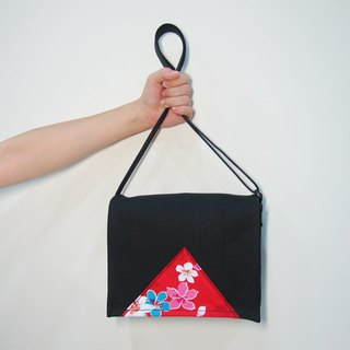 Hakka Tong Huake Handmade Small School Bag - Black Black