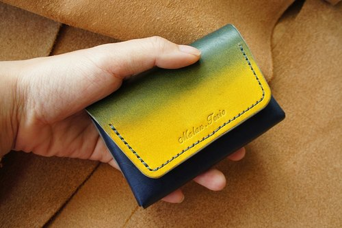 Large-capacity Two-colored gradient business card holder
