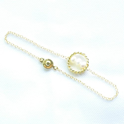 "∥Cheng Jewelry∥ Bochim Angel - ""Gold chain""  Pearl Bracelet"