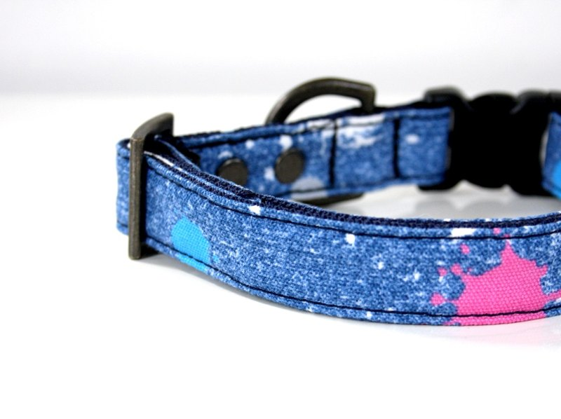 Denim paint collar small dog S size antique gold