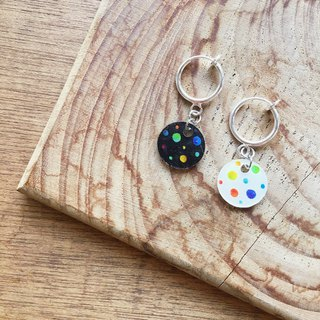 Puzzle Star - Needle Clip Earrings