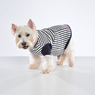 Stitching Stripe Pet Clothes - Wide Edition