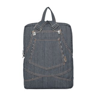 MDF Denim Sling Bag - Black and White Stripes