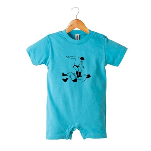 Foot stamp romper