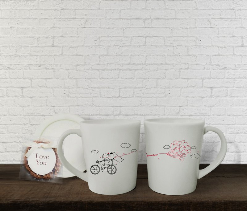 FOREVER BIKE Couple Coffee Mugs (FREE HAND CREAM)