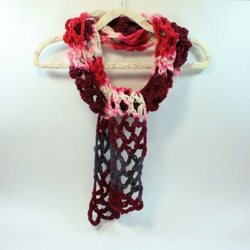 Knitted hand-woven scarves - pure wool 07