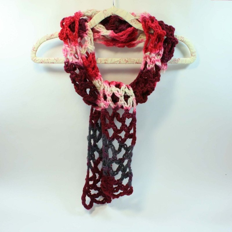 Knitted Handwoven Scarf - Pure Wool 07