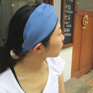 Cross hair band (sweeping hand) - Blue