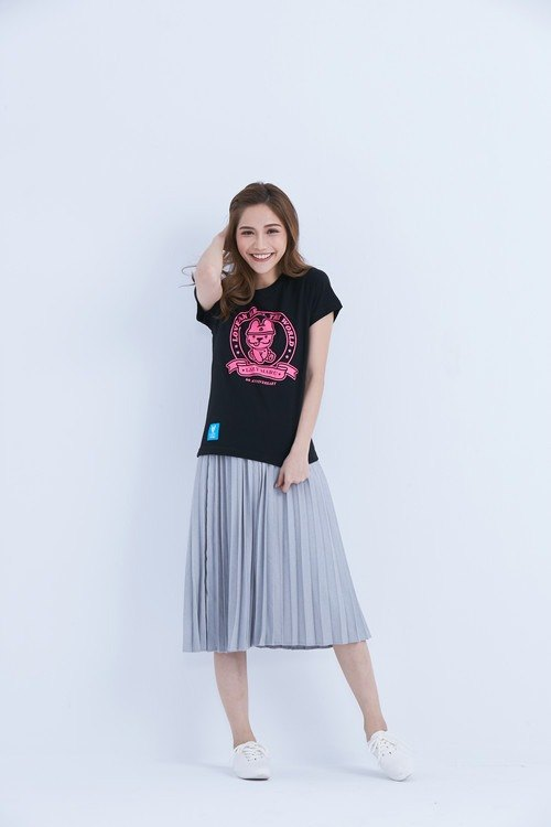LAZYMARU-LM001560 Love can cure the world commemorative T-shirt (black)